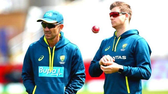 File image of Justin Langer and Steve Smith.