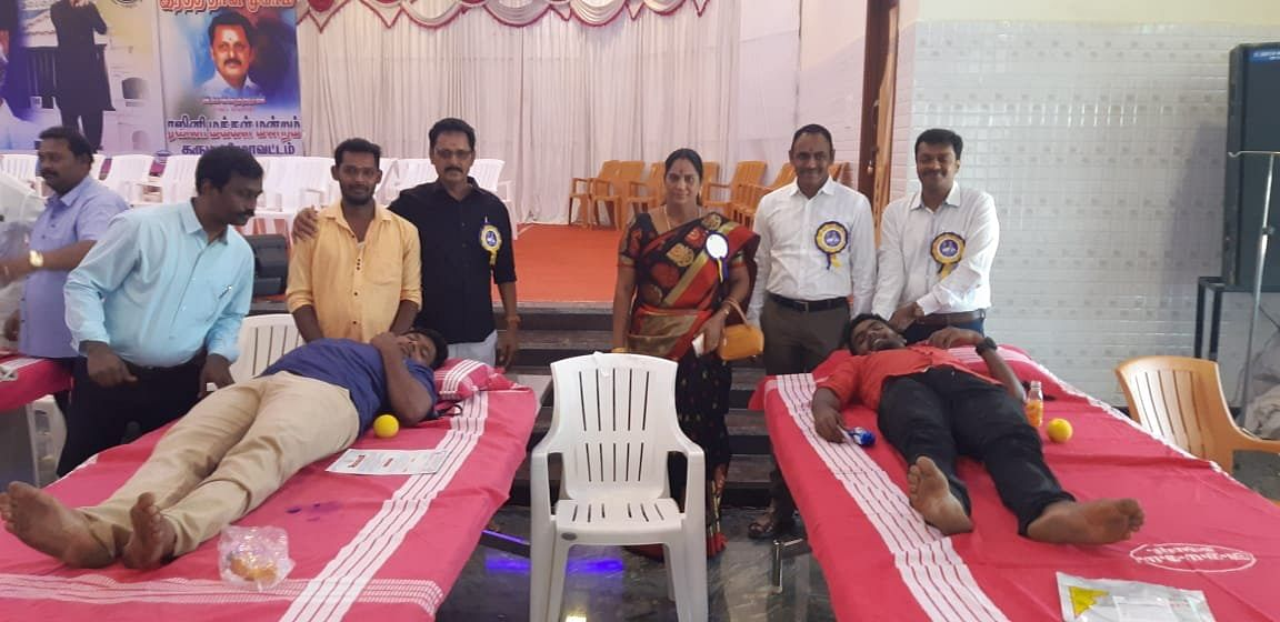 More than a thousand members of the RMM council donated blood on 31 December 2018 at a blood donation drive held under the chairmanship of Dharmapuri District Secretary M Mahendran.