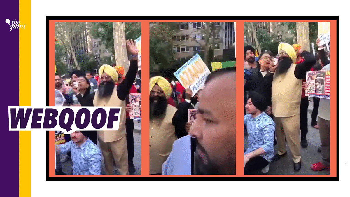 The video showed protesters agitating against Prime Minister Narendra Modi while he delivered his speech at the United Nations General Assembly (UNGA).