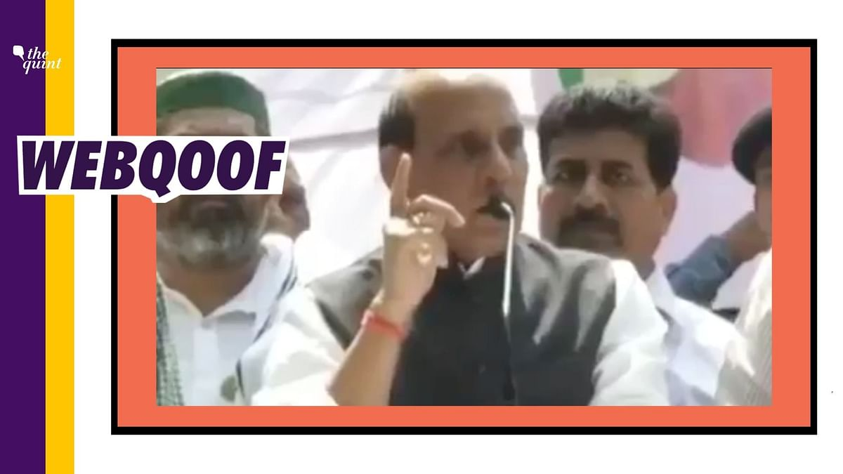An old video from 2013 was revived to falsely claim that Rajnath Singh has come out to support protesting farmers.
