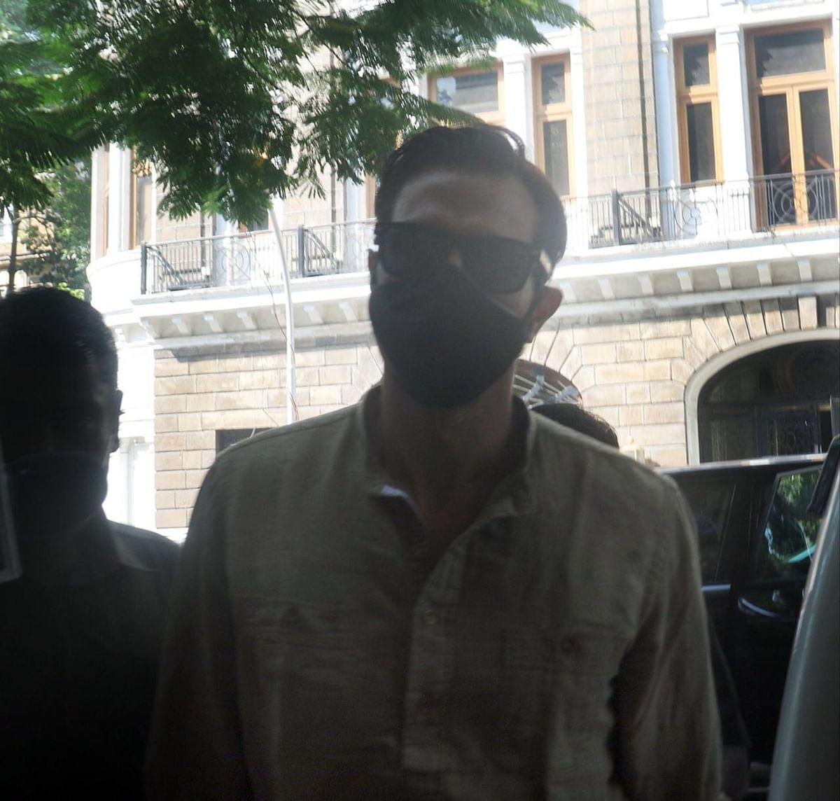 Arjun Rampal at the NCB office in Mumbai.