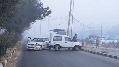 A scene at the site of an encounter that took place in Shakarpur area of East Delhi, Monday