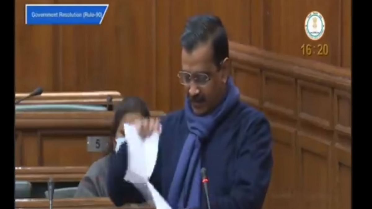 'What Was the Hurry?': Kejriwal Tears Farm Laws Copies in Assembly