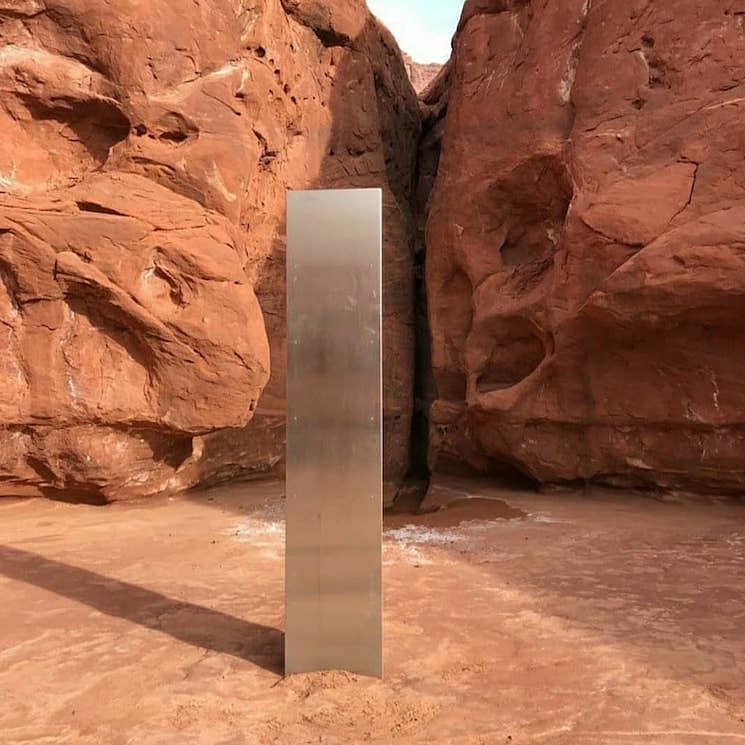 The monolith spotted in Utah.