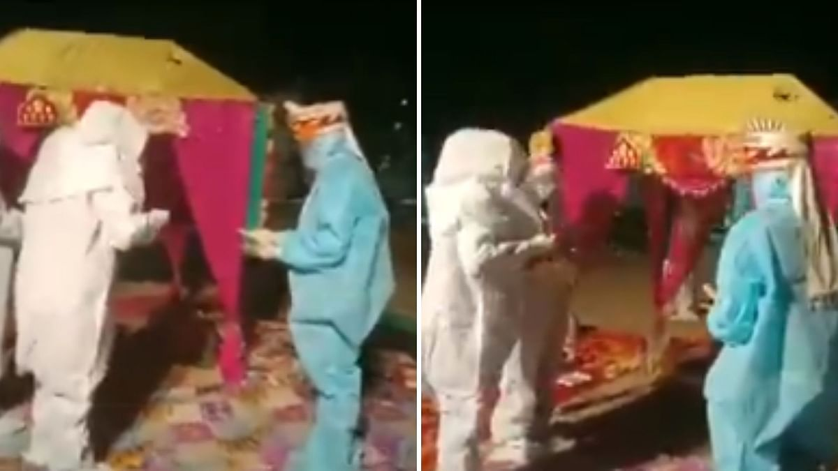 Rajasthan Couple Marries In PPE Kits After Bride Tests Positive