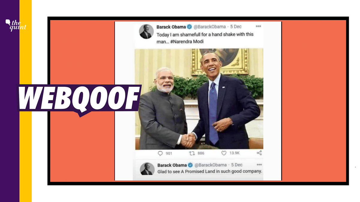Obama 'Ashamed of Shaking Hands With PM Modi' Tweet is Not Real