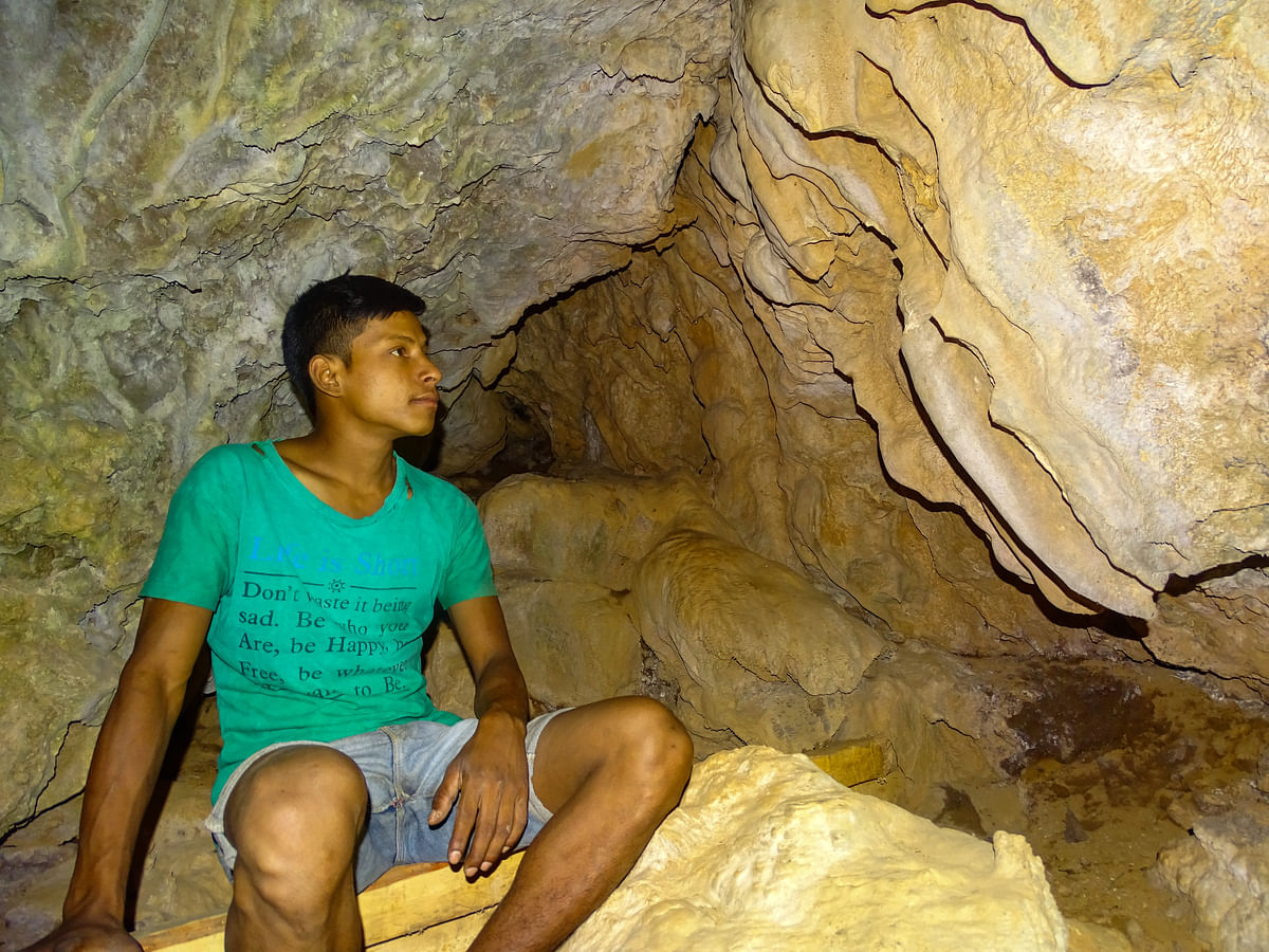 Gopal in his abandoned ancestral cave.