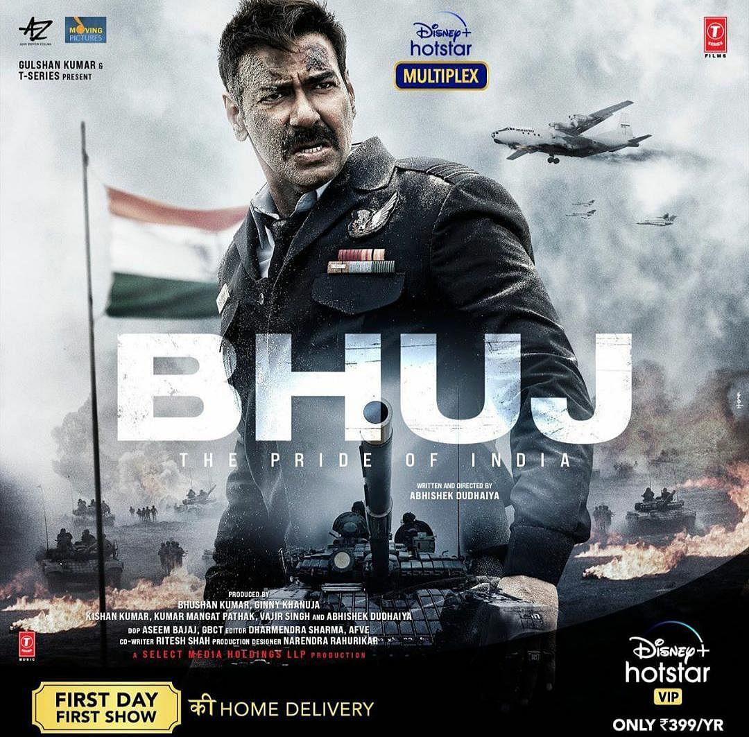 Ajay Devgn to play Indian Air Force Squadron Leader Vijay Karnik in <i>Bhuj</i>.