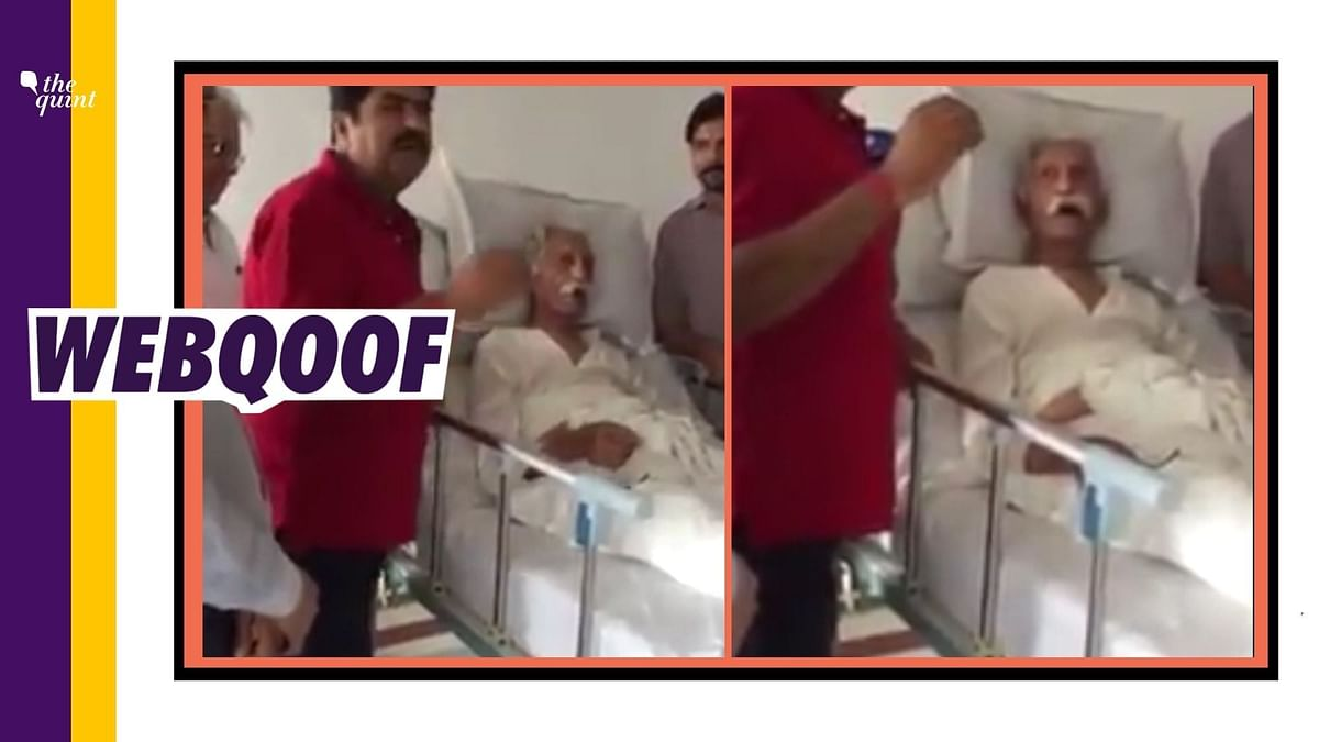 A video from last year was shared by several prominent personalities to claim that it showed the last moments of MDH owner, 'Mahashay' Dharampal Gulati.