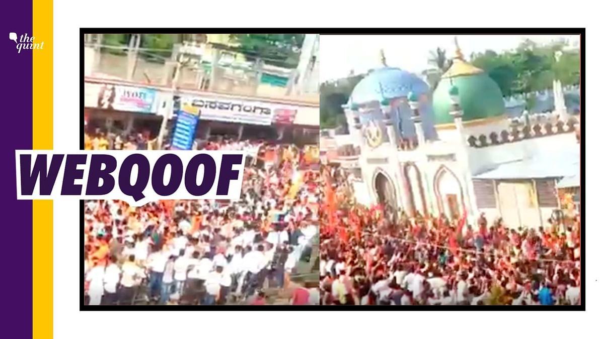 It is an old video from Karnataka's Gulbarga and shows Ram Navami celebrations.