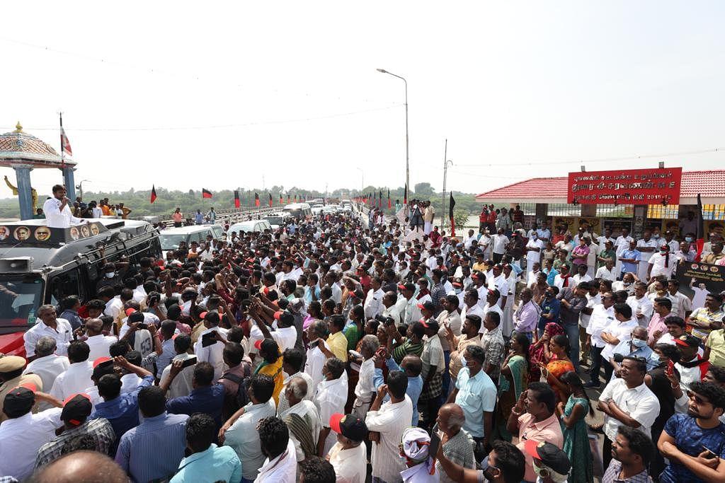 Udhayanidhi Stalin addressing people at Cuddalore.