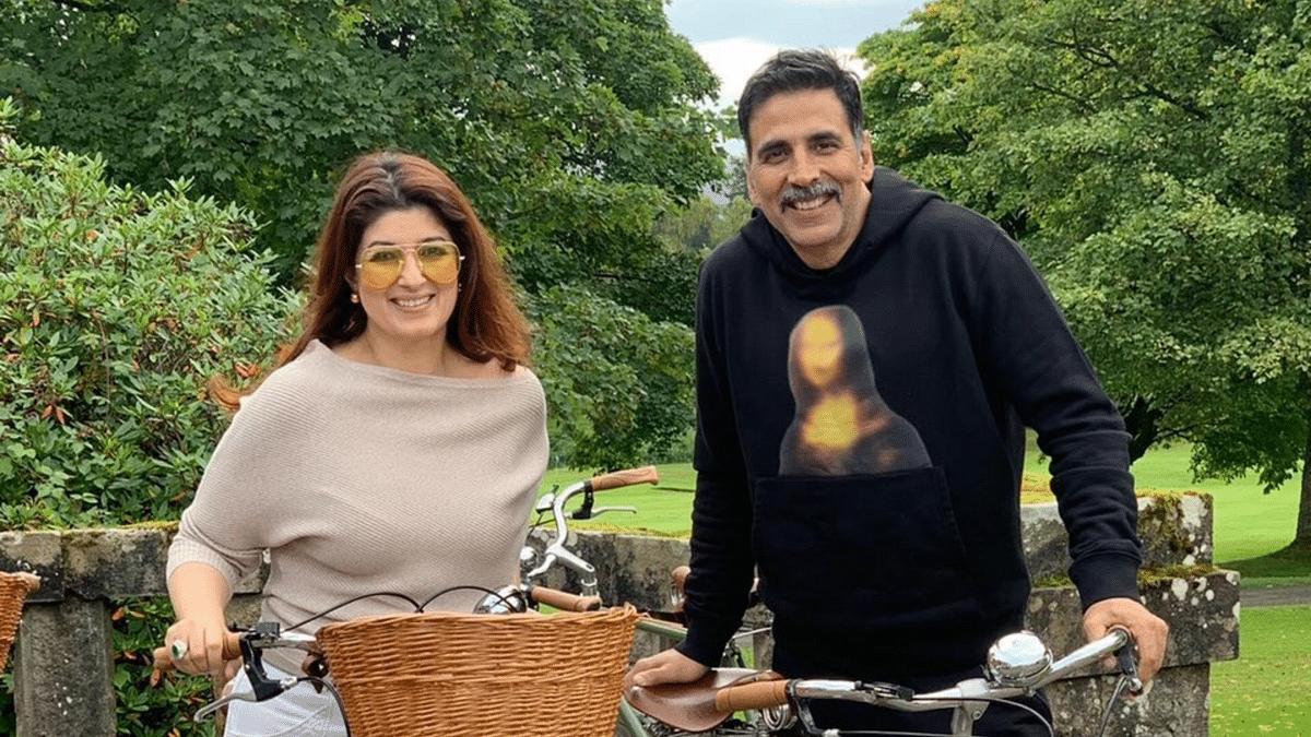Akshay Kumar and Twinkle Khanna on vacation.