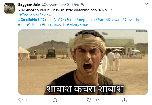 'Coolie No. 1' Has The Second Lowest IMDB Ratings & Twitter Agrees