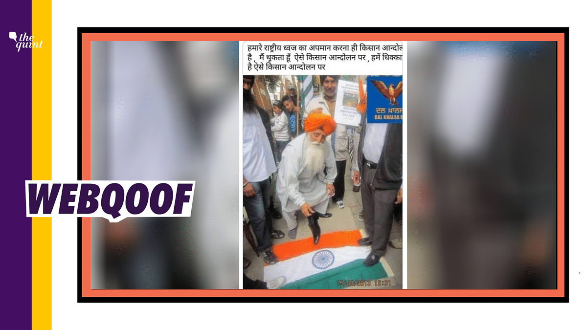 The image could be traced back to August 2013, when pro-Khalistan group members had gathered in London.