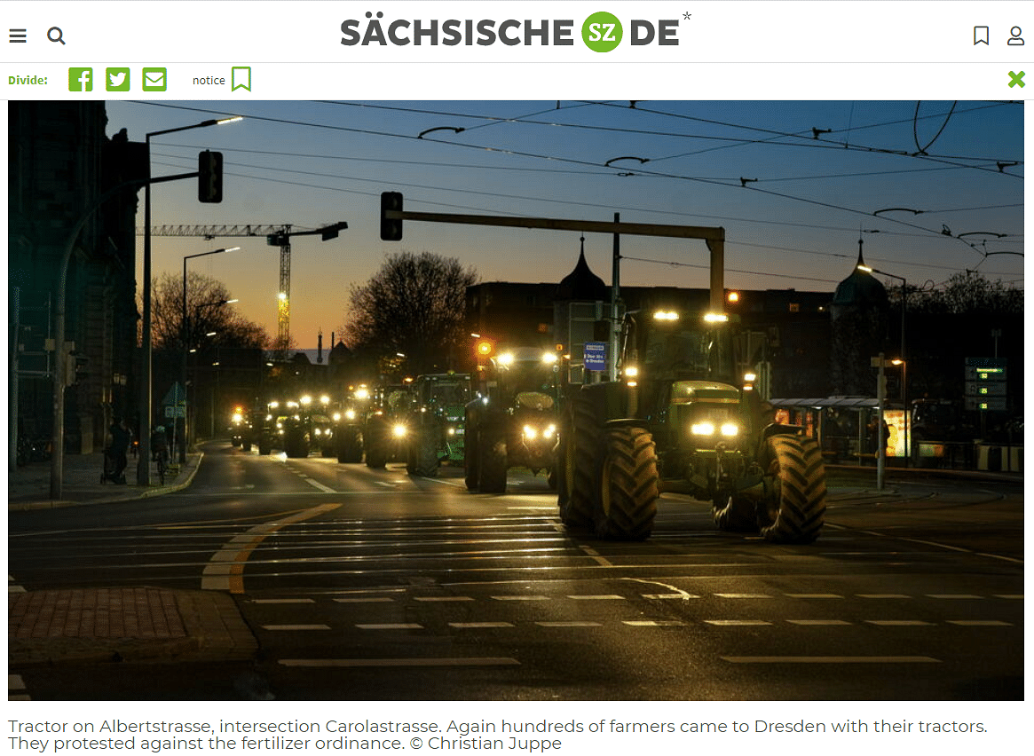 No, German Farmers Didn't Protest In Support of Indian Farmers