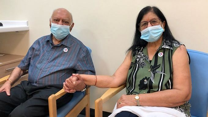 Hari Shukla and his wife Ranjan Shukla are among the first people in the world to get COVID-19 vaccine.