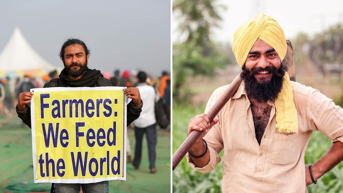 The man, whose photo was used to represent a farmer in the post, has called out the party, asserting that he is currently protesting at the Singhu border.