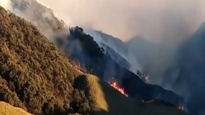 Massive Fire Breaks Out In Dzukou Valley, Manipur-Nagaland border