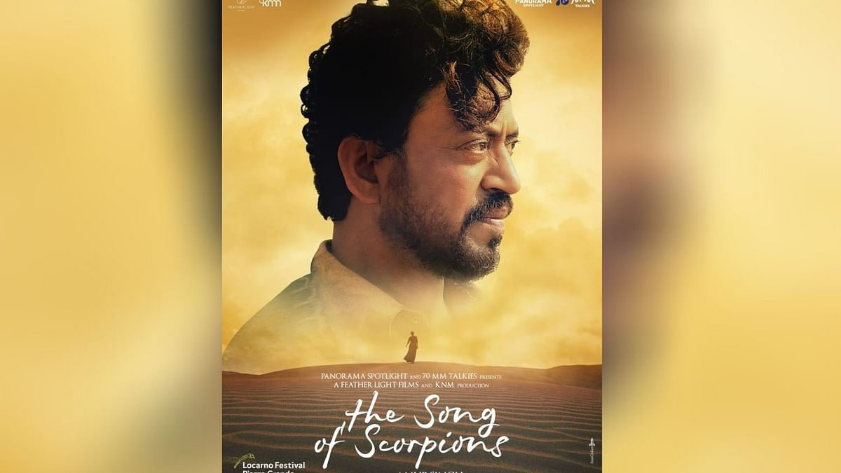 Late Irrfan Khan in the poster of The Song of Scorpions.