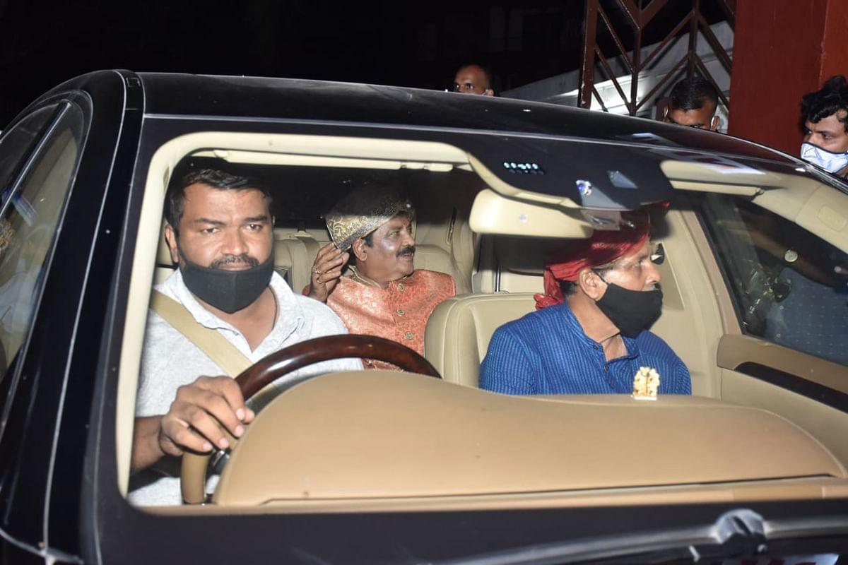 Udit Narayan arrives for the wedding.