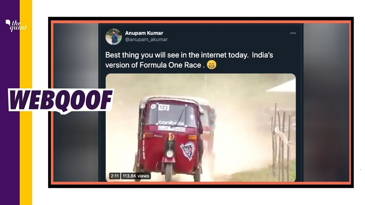 Fact Check: Video of Race Between Auto Rickshaws is Not From India