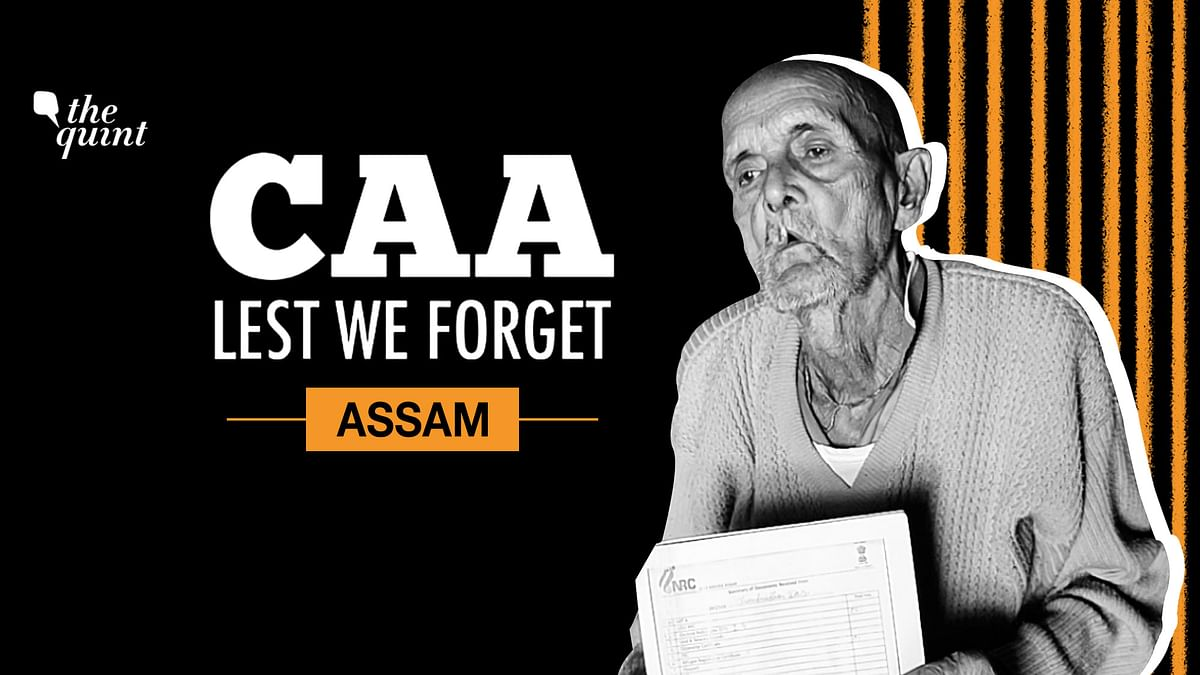104-years-old Chandradhar Das had to spend three months in a detention camp.