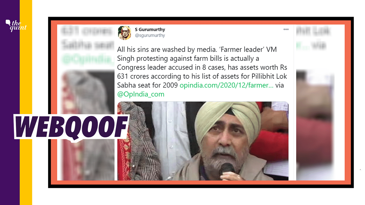 The claim that farmer leader VM Singh is associated with the Indian National Congress is false.