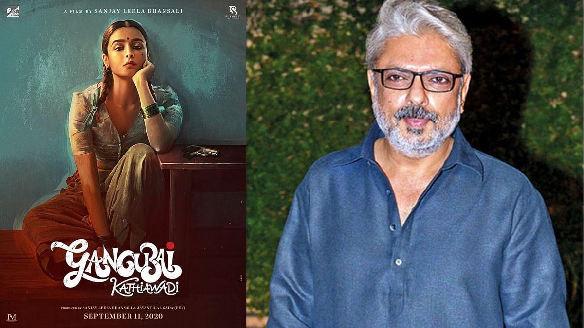 Alia Bhatt in and as <i>Gangubai Kathiawadi;&nbsp;</i>filmmaker Sanjay Leela Bhansali.