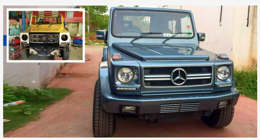 Image of Farmers With a Modified Car Viral as 'Mercedes G-Wagon'