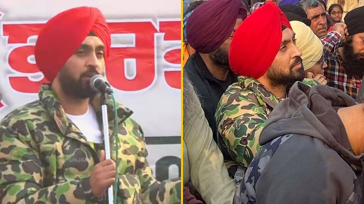 Watch: Diljit Dosanjh Joins Farmers' Protest at Singhu Border