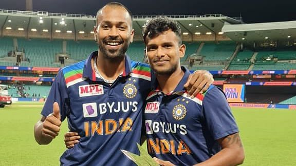 Hardik Pandya pens a note to T Natarajan after the completion of the T20I series between India and Australia.