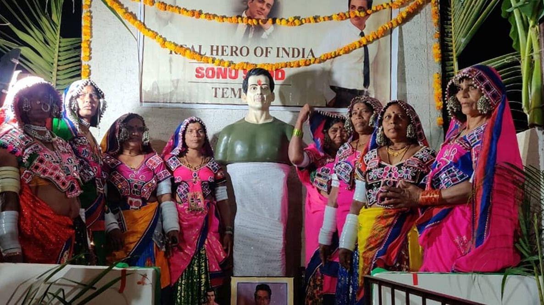 Sonu Sood Reacts to Temple Built in His Honour in Telangana