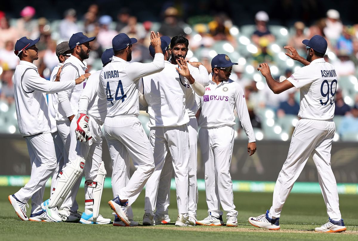 India took a 53-run first innings lead against Australia in Adelaide.