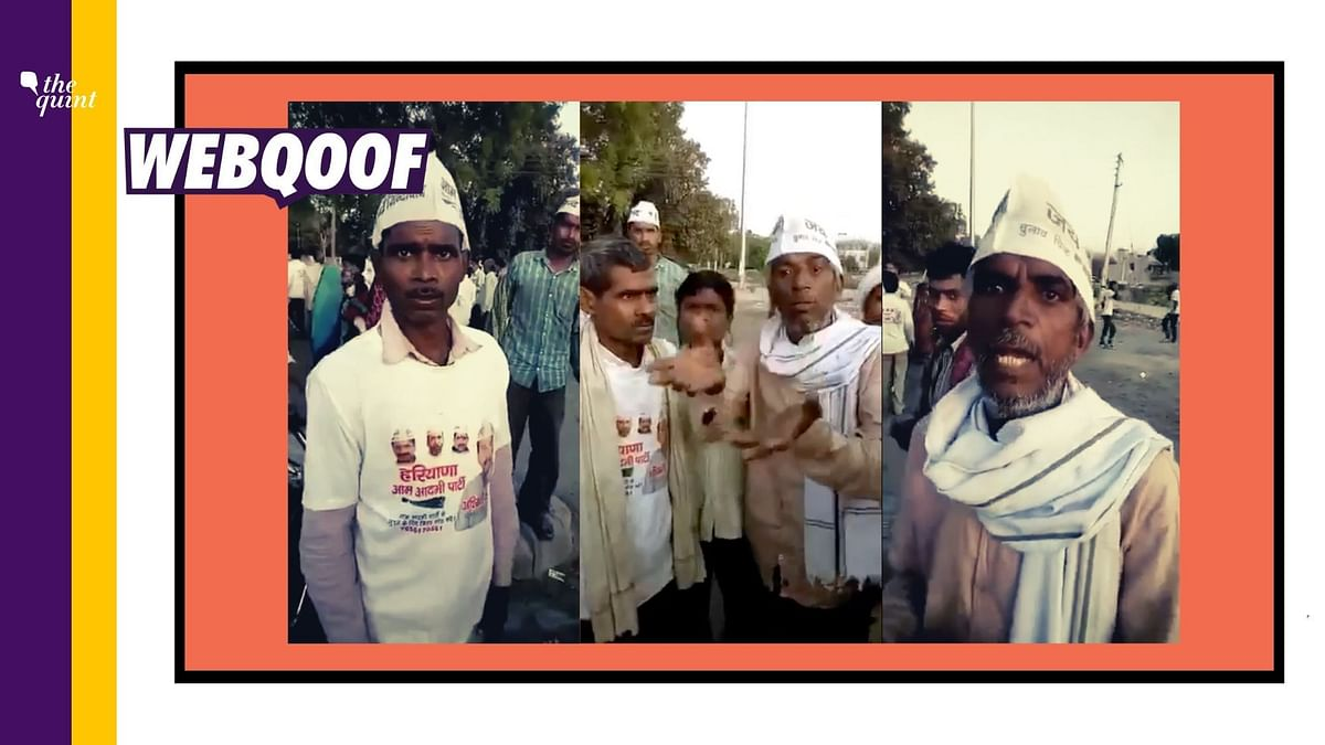 Video of  Complaints About AAP is Old, Not From Farmers' Protests