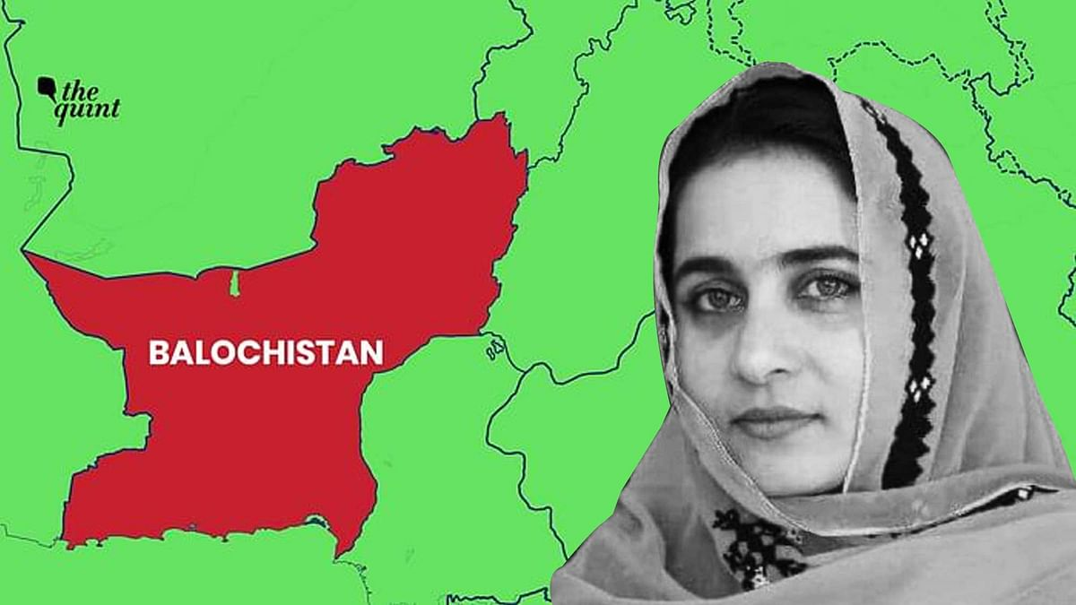 Balochistan map and Karima Baloch — images used for representational purposes.