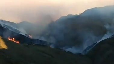 Massive Fire At Famous Dzukou Valley In Northeast