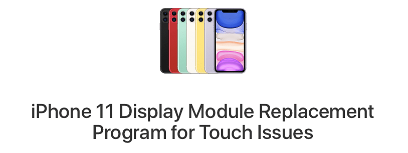"""Apple iPhone 11 Free Screen Repair. Apple acknowledged that a small number of Apple iPhone 11 displays """"may stop responding to touch due to an issue with the display module."""""""