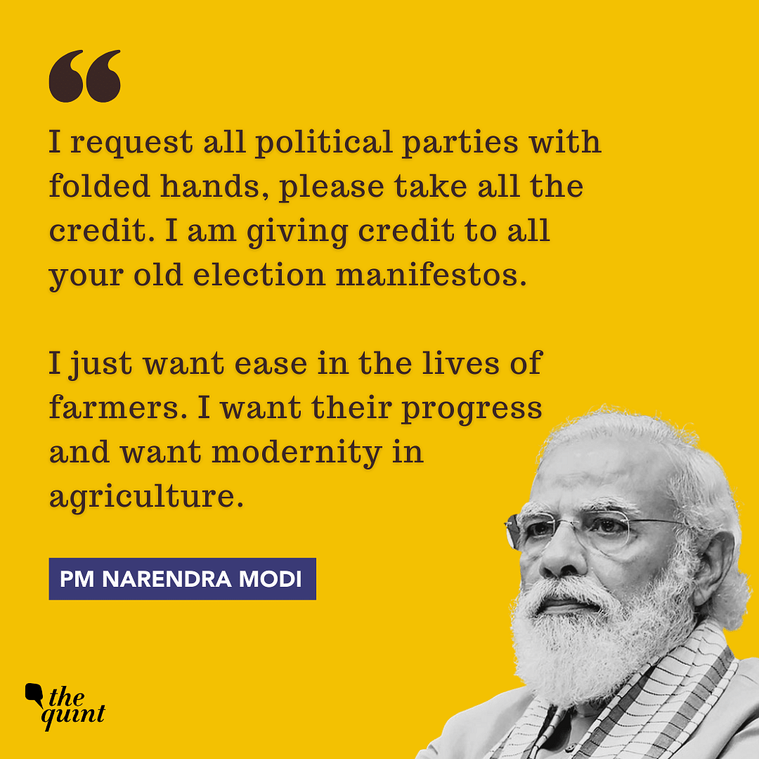 Take Credit for Laws, But Make Farmers' Lives Easy: PM Tells Oppn