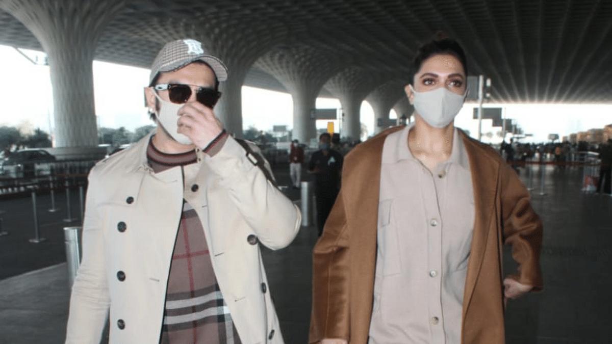 Pics: Ranveer and Deepika Twin in Matching Airport Looks