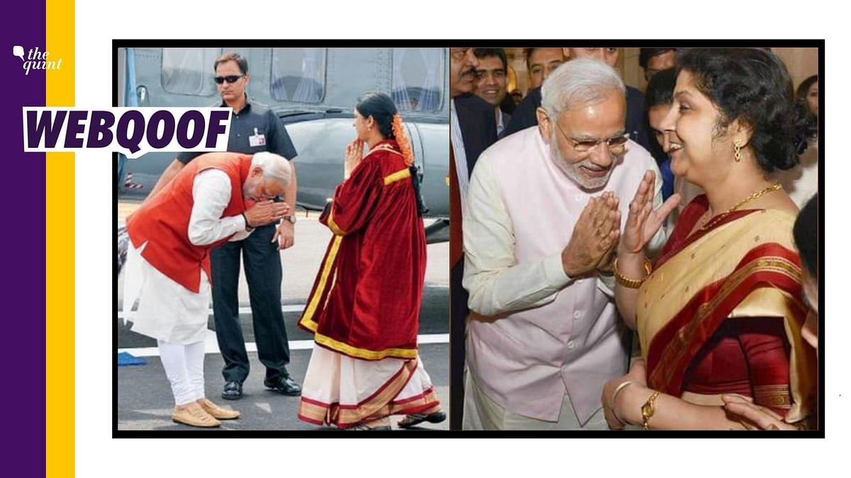 Images of Modi Greeting Women Misidentified As Gautam Adani's Wife