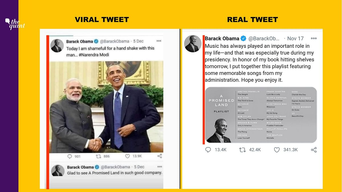 Comparison of viral tweet and mobile view.