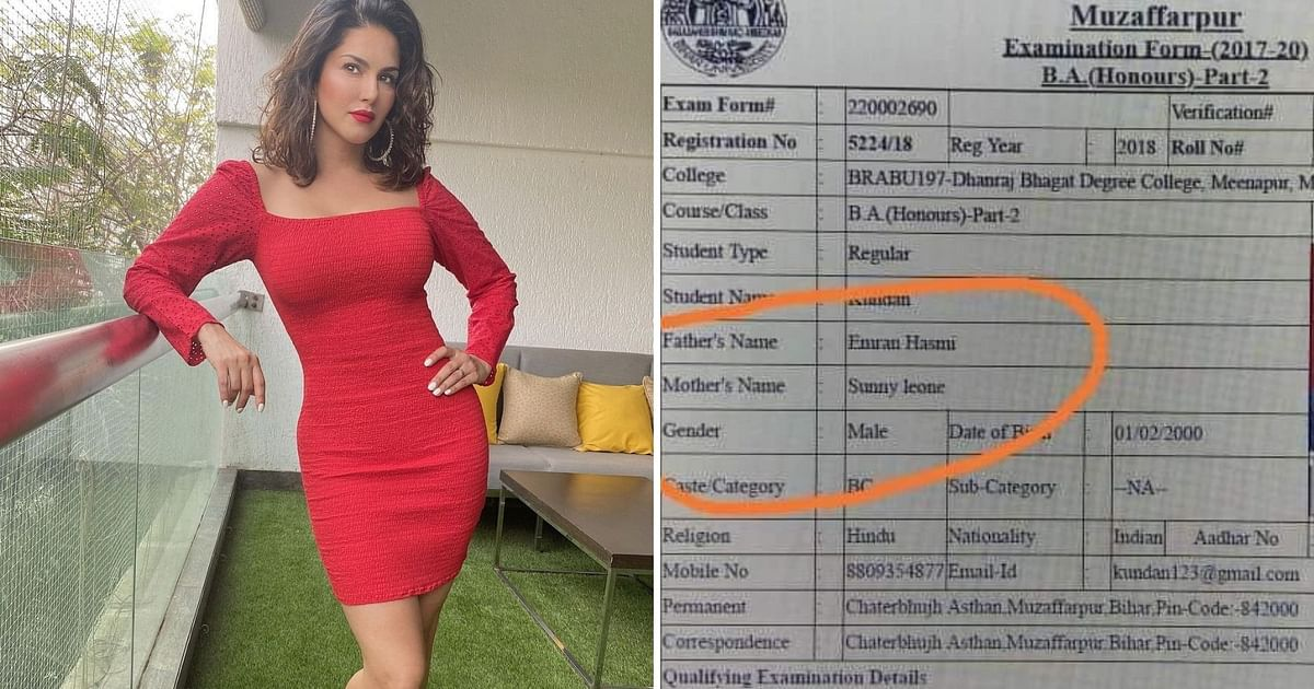 Sunny Leone Reacts to Bihar Student Naming Her His Mother