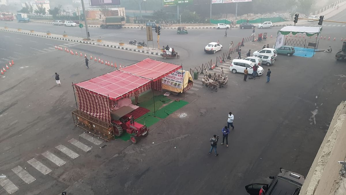 The nationwide shutdown called by farmers over the farm laws received a mixed response early Tuesday with most of the businesses and transport services remaining normal in the national capital.