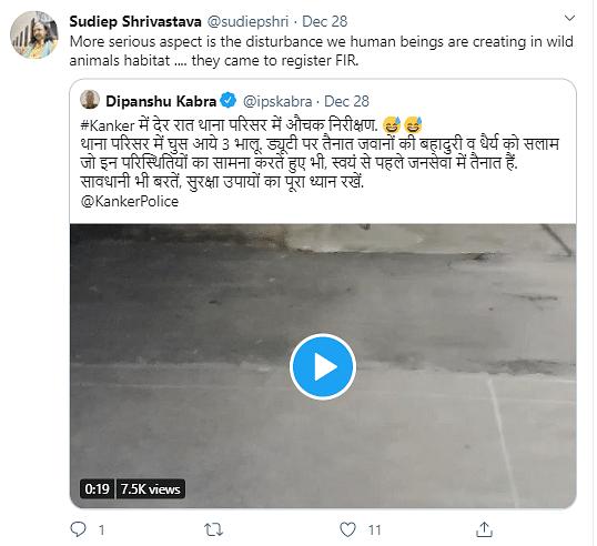 Watch: Three Bears Caught Arriving at Chhattisgarh Police Station