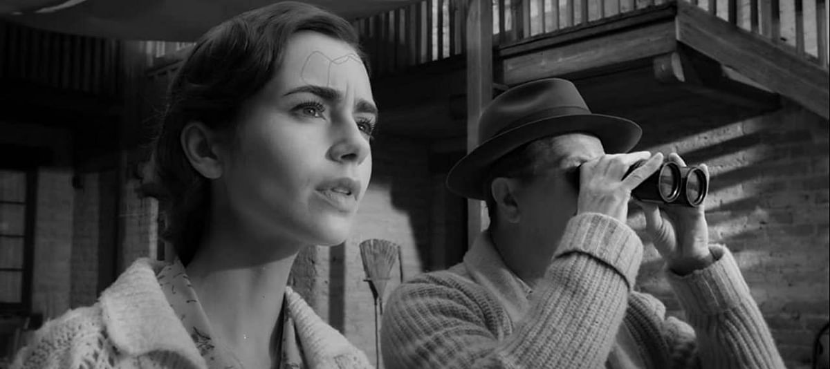 Lily Collins in a still from <i>Mank</i>.