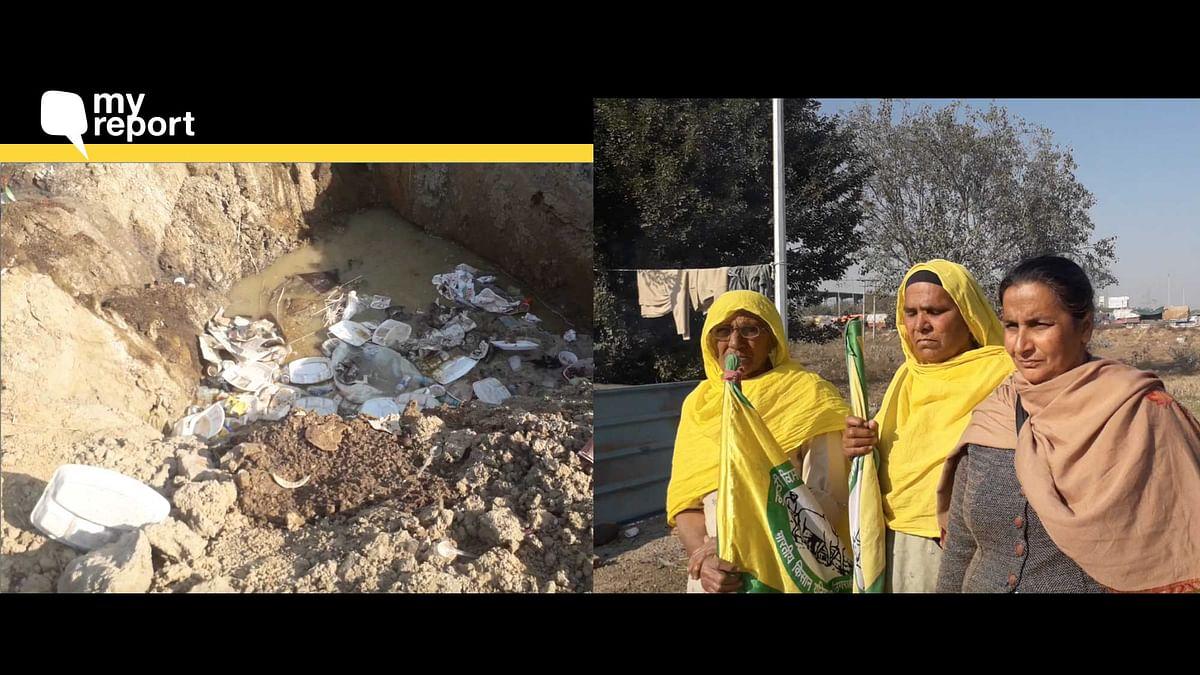 Farmers At  Tikri Border Battle Winter Chill & Lack of Toilets