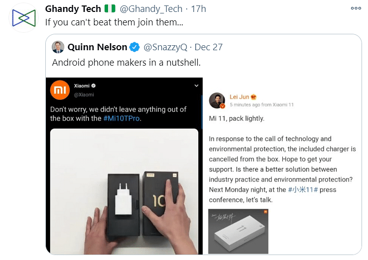 Xiaomi Mocks Apple for No Charger, Gets Trolled for Doing the Same
