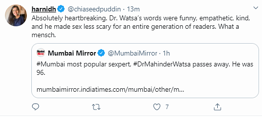 Funny & Kind: Twitter Remembers The Legendary 'Sexpert' Dr Watsa