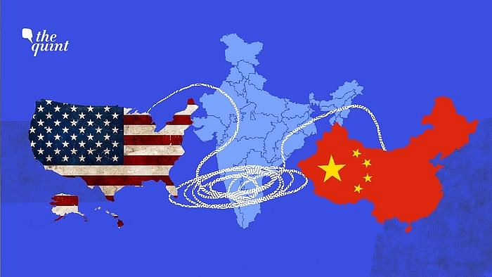 Image of US map (L), India map (centre), China map (R), used for representational purposes.