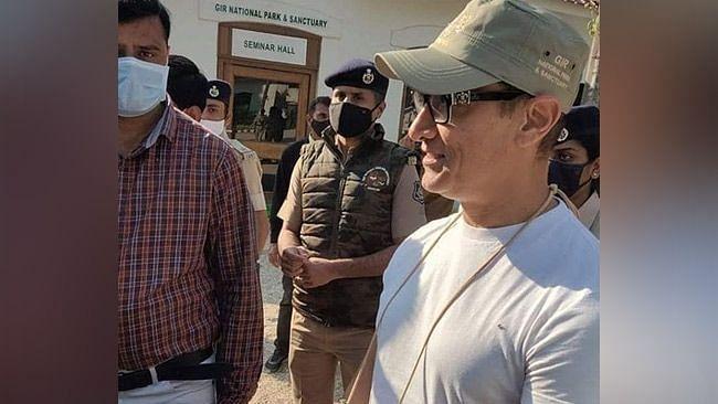 Aamir Khan at Gir National Park.